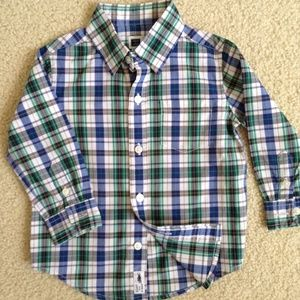 janie and jack lightweight plaid dress shirt 12-18
